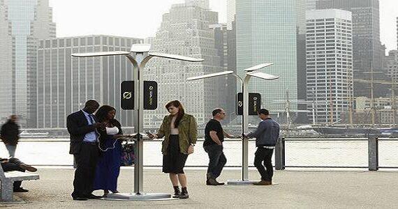 Efficiënt mobiele netwerk met behulp van hernieuwbare energiebronnen