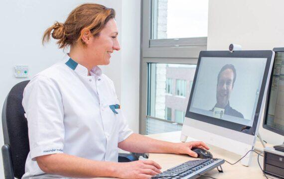 Patiënten willen videoconsult graag, gebeurt nog nauwelijks
