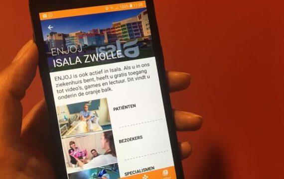 Isala komt met entertainment-app Enjoj, gips-app voor OLVG
