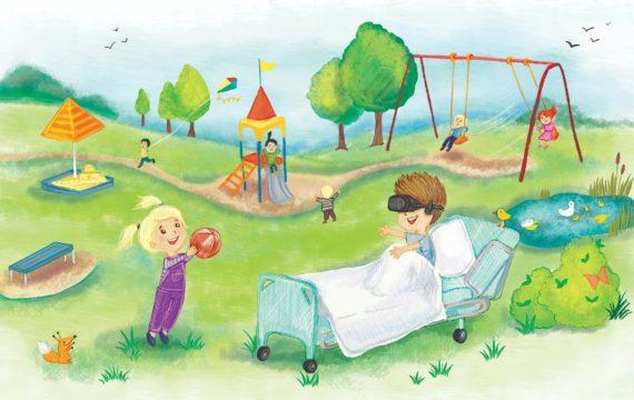 Virtuele speeltuin moet zieke kinderen buiten laten spelen